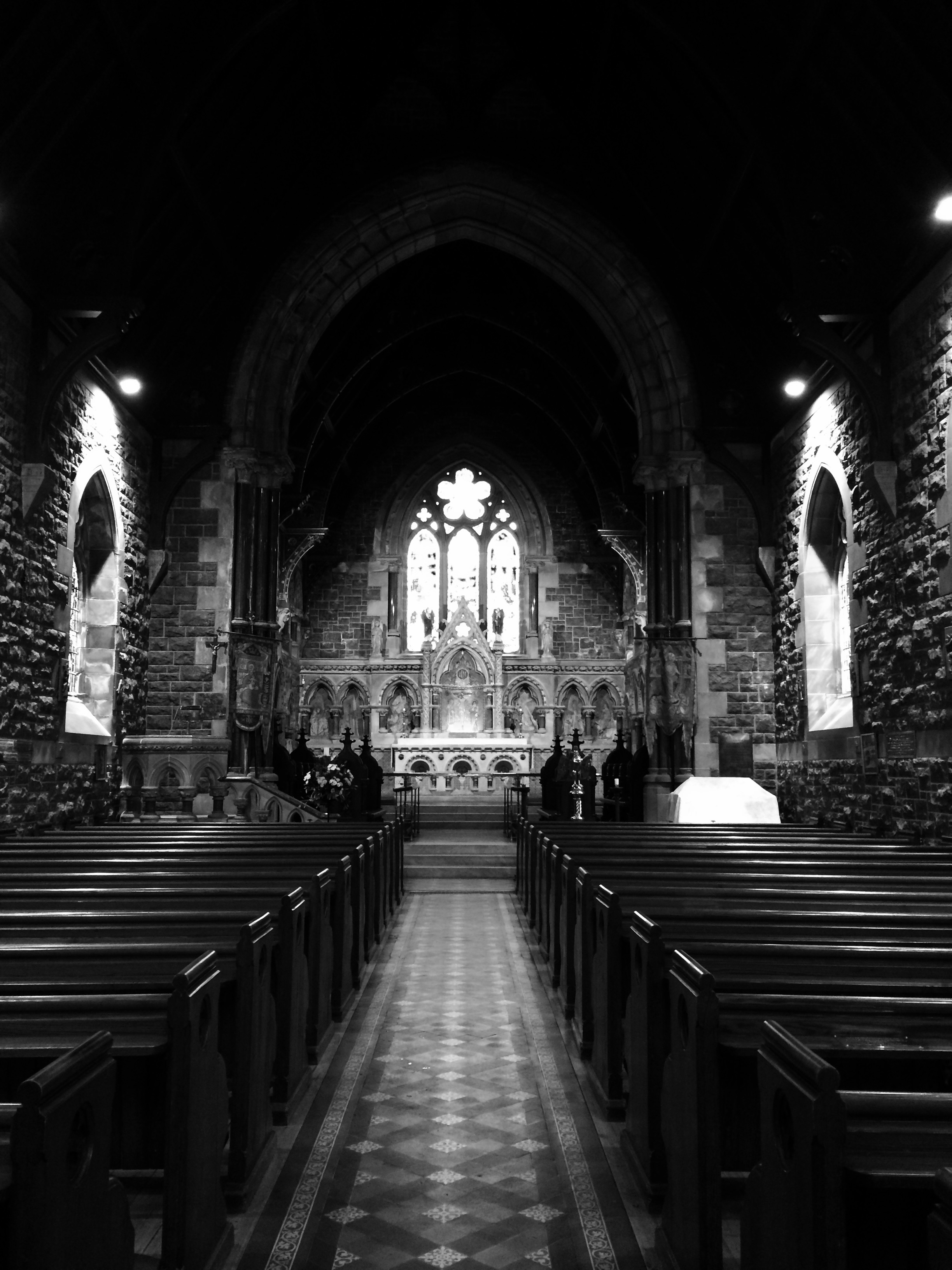 Ancient Church Black and White Photography