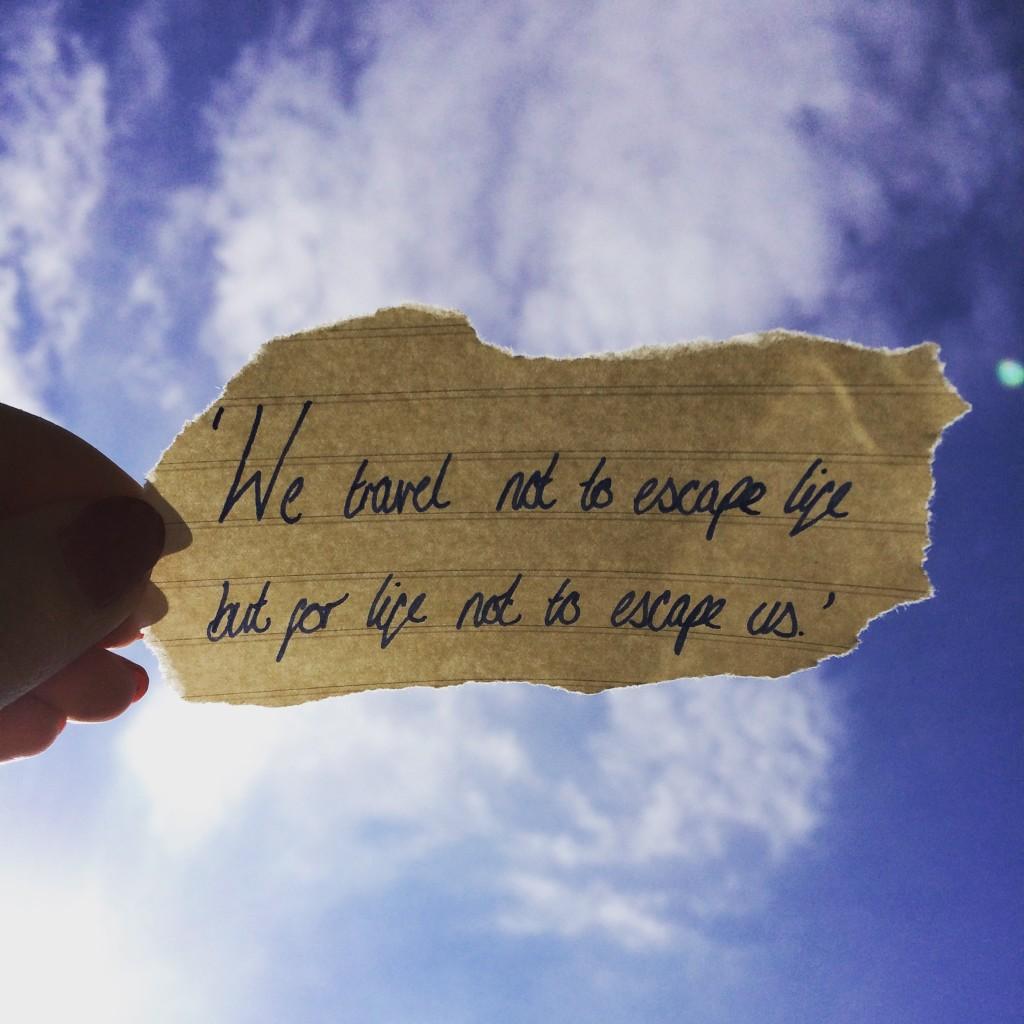 Inspiring wanderlust travel quote