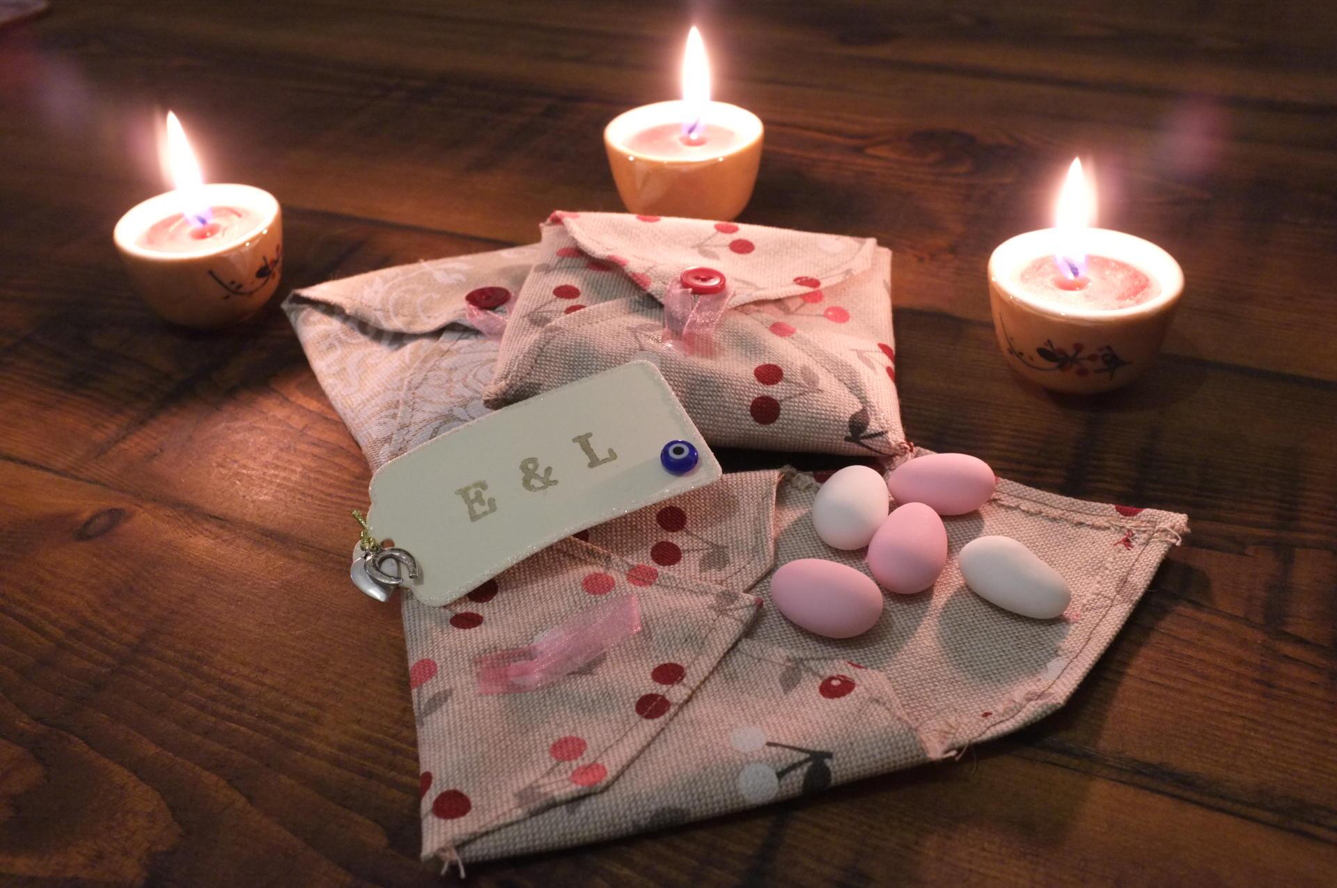 Handmade material envelopeda