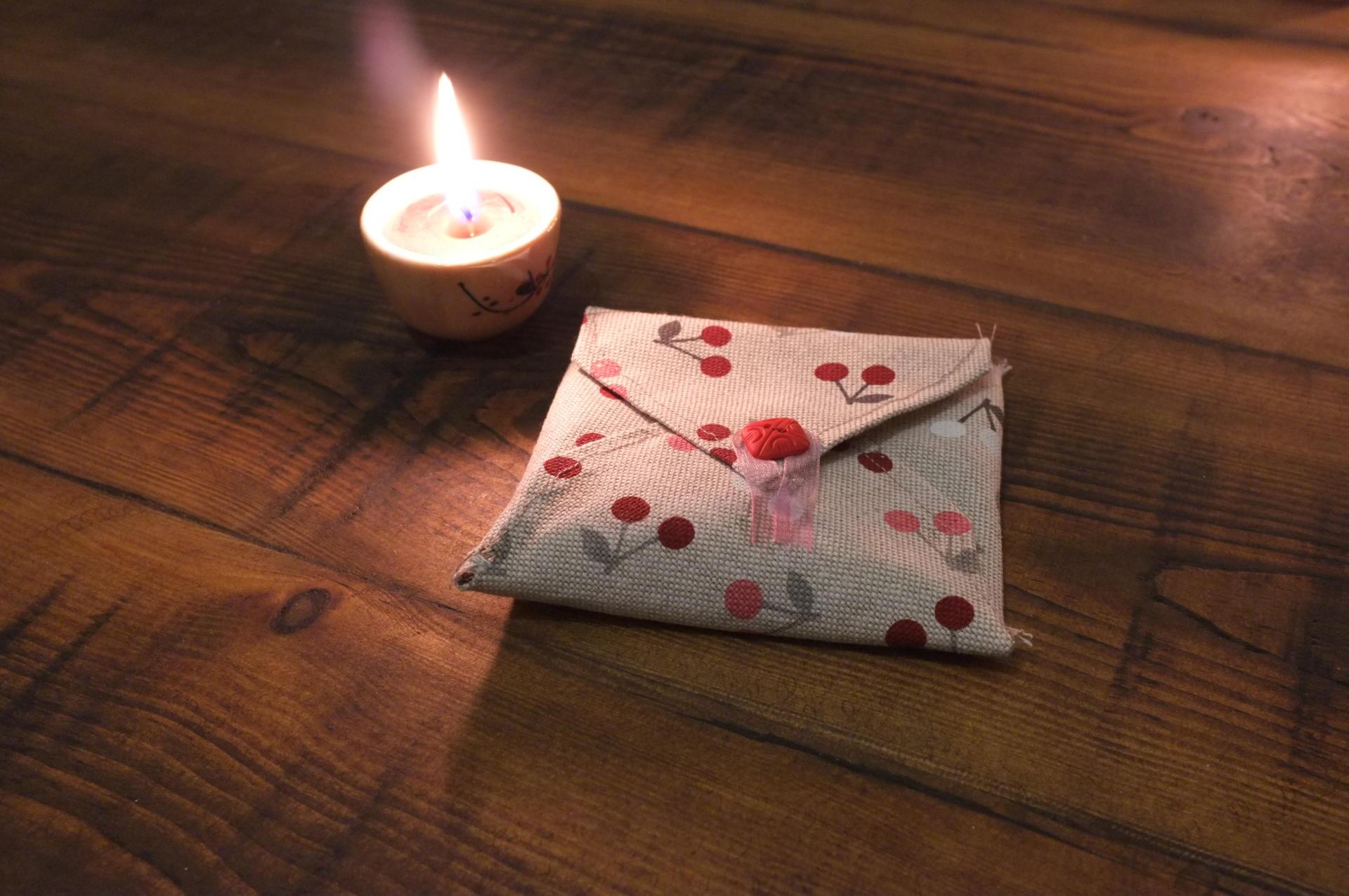 Handmade fabric envelopes diy wedding favours