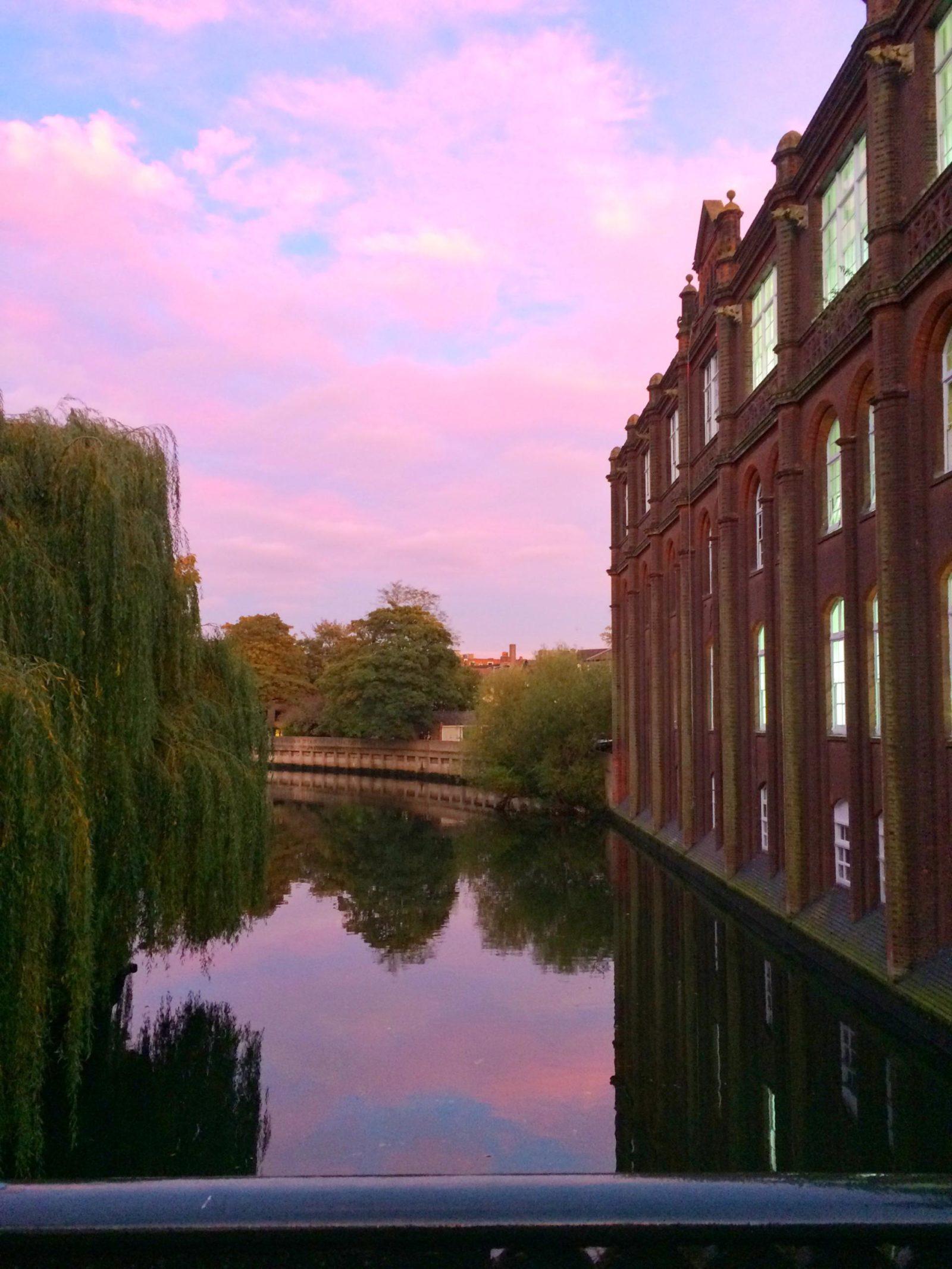 sunset river bridge norwich norfolk