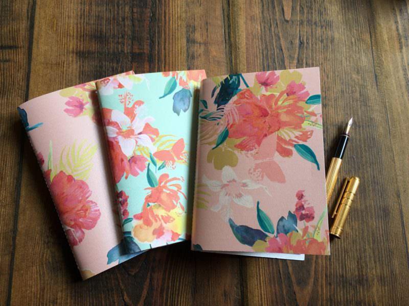 Yesihaveablog | The Writing Room Easy Store | Handmade Tropical Flowers Notebook